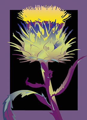 Purple-black Thistle Art Print