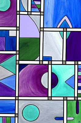 Psovart Painting - Purple -blue -green  Abstract 2 by Patty Vicknair
