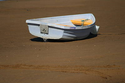 Photograph - Purple Boat And Desert by Phoenix De Vries
