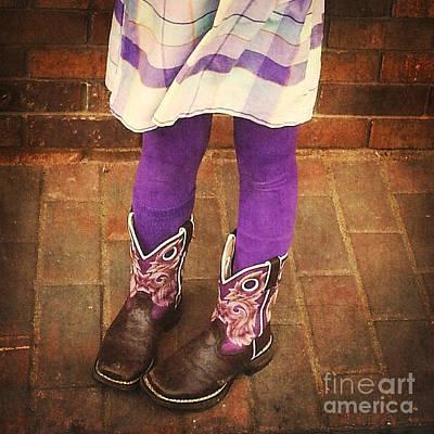 Digital Art - Purple Boots by Valerie Reeves