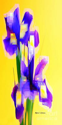 Digital Art - Purple Bouquet by Rafael Salazar