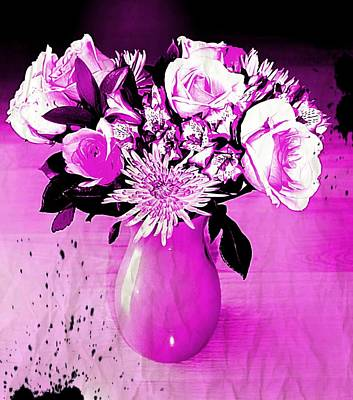 Photograph - Purple Bouquet  by Rita Tortorelli