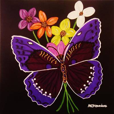 Painting - Purple Butterfly by Celeste Manning