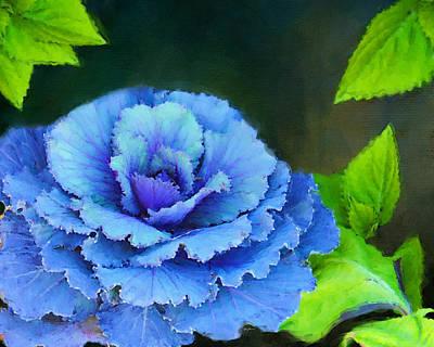 Painting - Purple Cabbage Plant by Jai Johnson