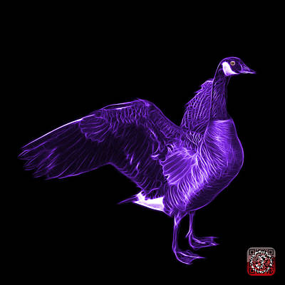 Mixed Media - Purple Canada Goose Pop Art - 7585 - Bb  by James Ahn