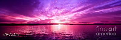 Purple Candy .sunrise Art Print by Geoff Childs