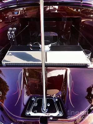 Photograph - Purple Car Engine Classic  by Susan Garren
