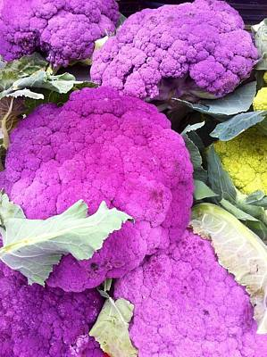 Photograph - Purple Cauliflower by Susan Garren