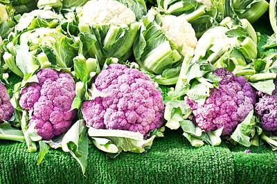 Cauliflower Photograph - Purple Cauliflower by Tom Gowanlock