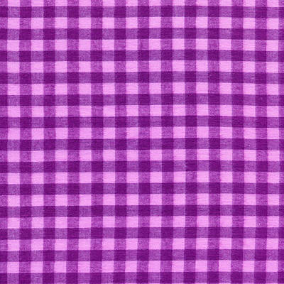 Purple Checkered Design Fabric Background Art Print by Keith Webber Jr