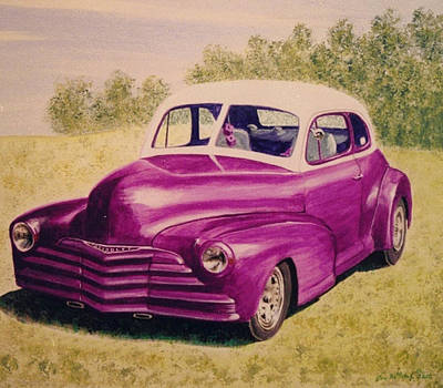 Painting - Purple Chevrolet by Stacy C Bottoms