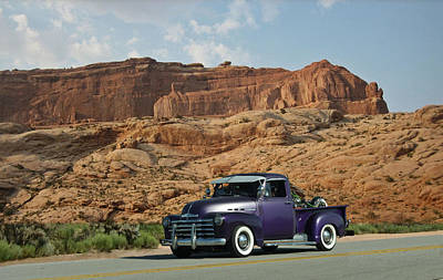 Photograph - Purple Chevy Pickup by Tim McCullough