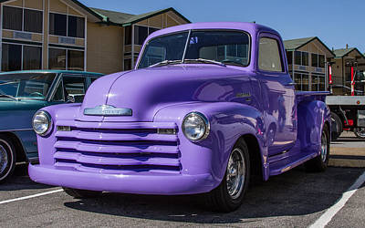 Purple Chevy Truck Art Print by Robert L Jackson