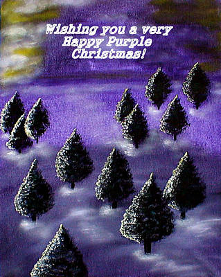 Painting - Purple Christmas by Sandy Wager