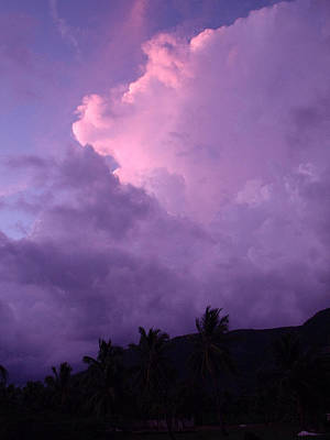 Purple Clouds Art Print by Marianne Miles