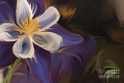 Purple Columbine Art Print by K Powers Photography