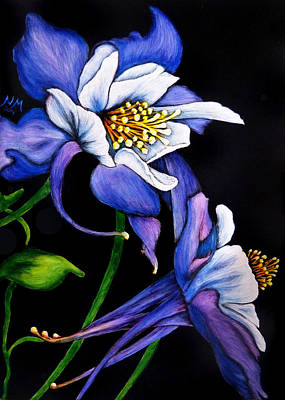 Painting - Purple Columbine by Monique Morin Matson