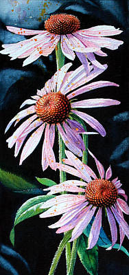 Purple Cone Flowers 1 Art Print by Hanne Lore Koehler