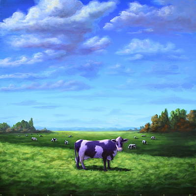Painting - Purple Cow by Ric Nagualero
