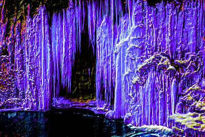 Gaudy Painting - Purple Crystal Cave by Bruce Nutting