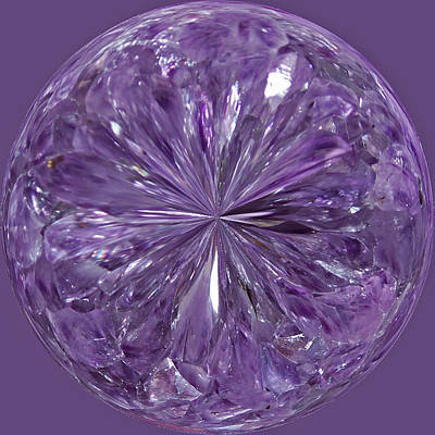 Photograph - Purple Crystal Gem by Tikvah's Hope