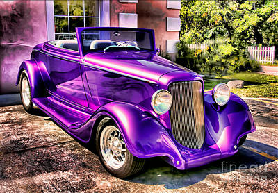 Purple Custom Roadster Art Print by Clare VanderVeen