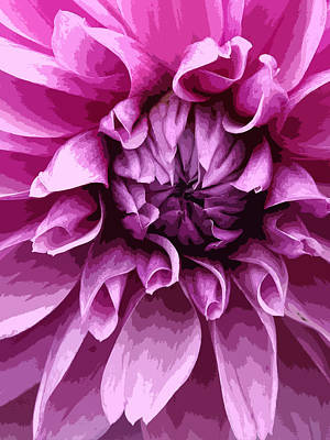 Digital Art - Purple Dahlia  by Joyce  Wasser