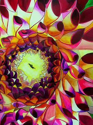 Purple Dahlia Art Print by Sacha Grossel