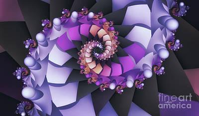 Fractal Geometry Digital Art - Purple Dance by Jutta Maria Pusl