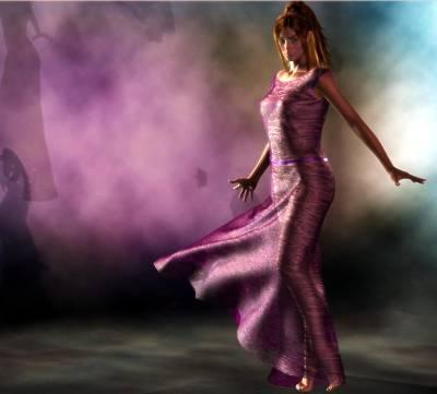 Art Print featuring the digital art Purple Dancer by Kaylee Mason