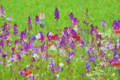 Habitat Digital Art - Purple Days by Tim Gainey