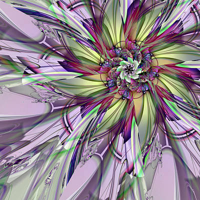 Digital Art - Purple Delight by Kiki Art