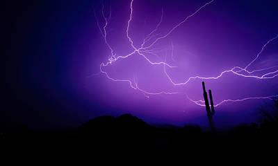 Lightning Bolt Photograph - Purple Desert Skies  by Saija  Lehtonen
