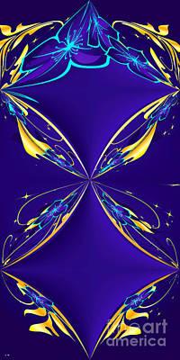 Purple Diamonds Print by Liane Wright
