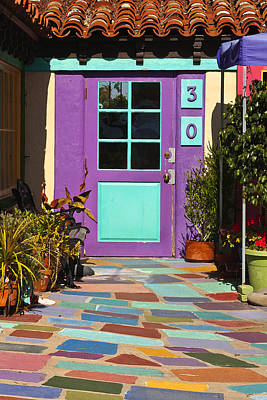 San Diego Artist Photograph - Purple Door by Art Block Collections