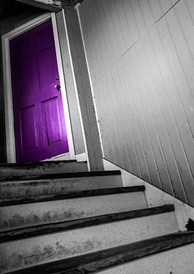 Photograph - Purple Door by Christy Usilton