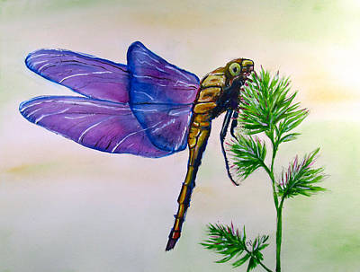 1-war Is Hell Royalty Free Images - Purple Dragonfly Royalty-Free Image by Carol Blackhurst