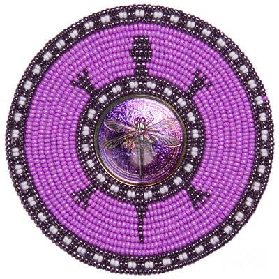 Digital Art - Purple Dragonfly by Douglas K Limon
