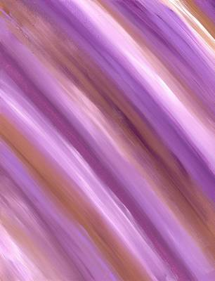 Star Burst Painting - Purple Dreams Diagonal Stripes by Barbara St Jean