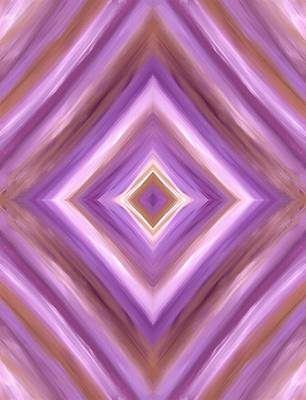 Painting - Purple Dreams Diamond  by Barbara St Jean