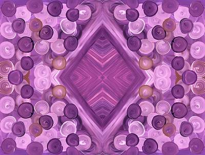 Star Burst Painting - Purple Dreams Diamond Pebbles by Barbara St Jean