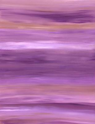 Painting - Purple Dreams Horizontal Stripes by Barbara St Jean