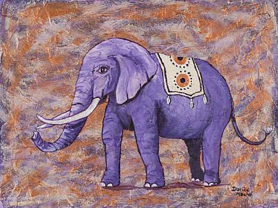 Painting - Purple Elephant by Darice Machel McGuire