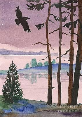 Purple Evening Art Print by Margaryta Yermolayeva
