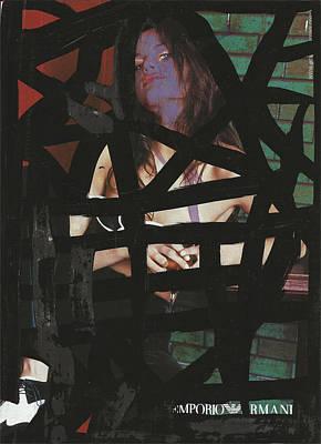 Purple Face Diva Pop Graffiti Original