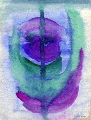 Art Print featuring the painting Purple Face by Mukta Gupta