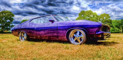 Purple Falcon Coupe Art Print by Phil 'motography' Clark