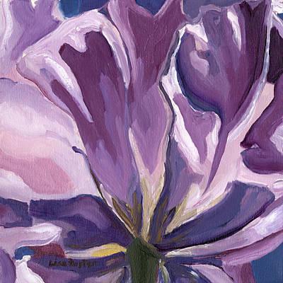 Painting - Purple Fan by Lisa Foster