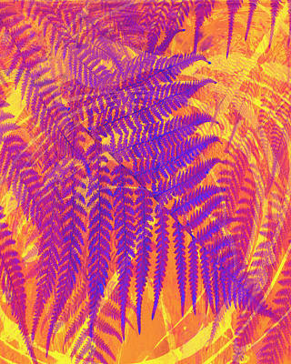 Digital Art - Purple Fern by Ann Powell