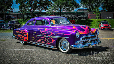 Purple Car Photograph - Purple Flame by Perry Webster
